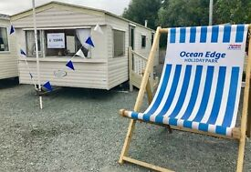 STATIC HOLIDAY HOME FOR SALE OCEAN EDGE HOLIDAY PARK NORTHWEST MORECAMBE 12 month season 4*park