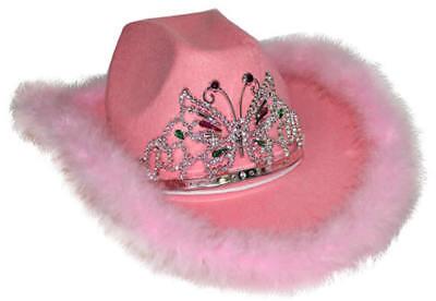 Cowboyhut rosa Hut Cowgirl Cowboy Prinzessin Schmetterling Hüte - Rosa Cowgirl