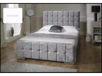 luxury hampton crushed velvet beds with a FREE mattress