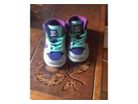 Baby girls DC trainers size 4