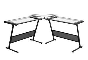 Metal/Glass corner desk barely used