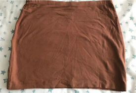 C terracotta elasticated waist skirt 14