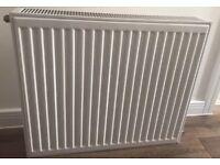 White cental heating radiator