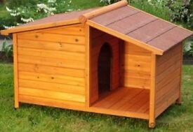 LARGE Wooden outdoor Dog Kennel and shelter New in Box