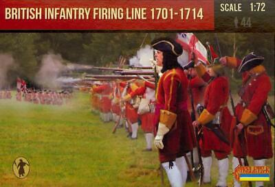 MADE RUSSIA British Infantry Firing Line 1701-1714 STRELETS MINIATURES 1//72