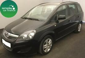 £138.01 PER MONTH BLACK 2014 VAUXHALL ZAFIRA 1.7 CDTi E/F EXCLUSIV MANUAL 7 SEAT