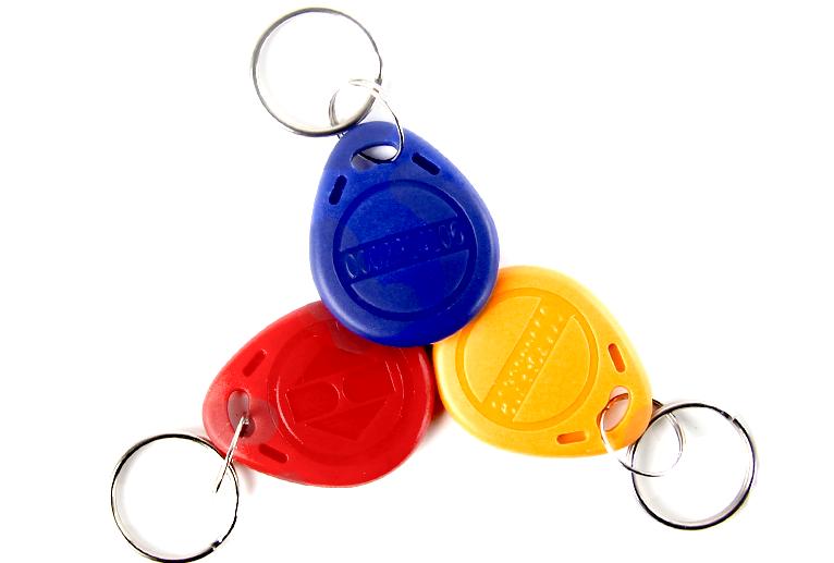 New 50pcs 125 KHz RFID Card Key Fobs EM4100 Proximity ID Card Key Tags Keychains