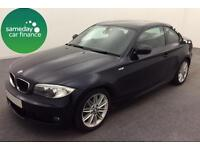 £234.89 PER MONTH BLACK 2012 BMW 118D 2.0 M SPORT COUPE DIESEL MANUAL