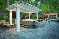 WE DESIGN & INSTALL YOUR DECKS FOR FIREPITS & HOT TUBS L.Martin