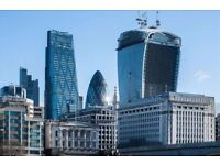 *Liverpool Street Offices* Flexible Co-Working & Shared Space in London EC2M from £325 pcm
