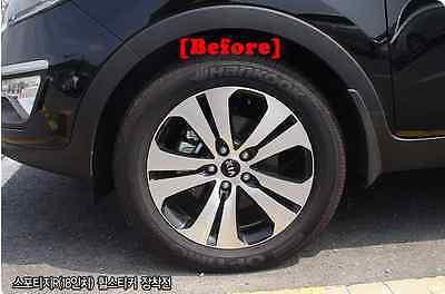 """Carbon Tuning Wheel Mask Sticker For Kia Sportage R Turbo 18/"""" 2010~2012"""