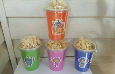8 Team Umizoomi popcorn containers party favors, treat, decoration cups dome lid