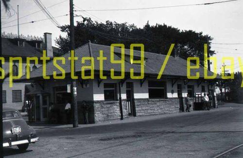 PE Pacific Electric Train Station / Depot - Vintage B&W Railroad Negative
