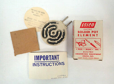 Esico Electric Solder Pot Element120v 325w Nib Nos