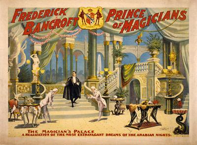 Frederick Bancroft Prince of Magician vintage circus poster repro 24x18