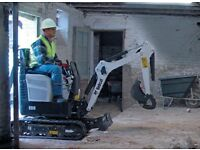 Micro digger WITH Driver Hire / 30 Years Experience / gardening / landscaping