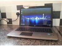 """HP DV7 17.3"""" LAPTOP, FAST QUAD CORE i7, 8GB, 750GB, WIFI, WEBCAM, DVDRW, BLU-RAY, OFFICE, HD5650 1GB"""