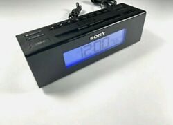 SONY ICF-C707 Dream Machine Alarm Clock Radio AM/FM Five Nature Sounds Black