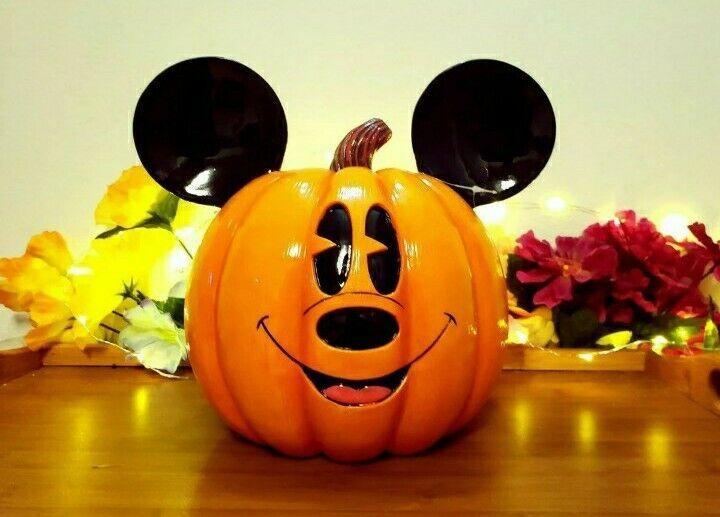 Disney Mickey Mouse Halloween Pumpkin Sitabout Resin New