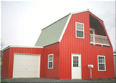 Insulated Galvanized Steel Gambrel Building Kit Cabin-can Add Garage Later