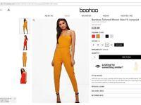 Boohoo Size 14 Ochre Colour Jumpsuit
