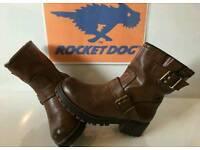 Rocket dog boots leather size 4