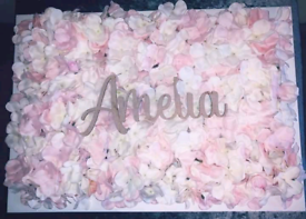 Flower wall frame with name