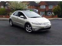 2009 Honda Civic 2.2 5dr Diesel Low Mileage Panoramic Roof Cruise Control Heated Folding Mirrors