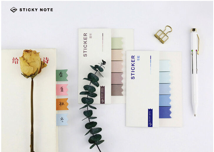 Haftnotizen Register | Page marker | Haftmarker | Sticky Notes, «Colour Stripes»