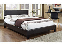 BRAND NEW - Double Leather Bed w/ Royal 1000 Pocket Sprung Mattress- Single and Kingsize available