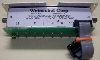 Weinschel 5968 Programmable Attenuator 0-127db 3ghz 12v Wcable Connector
