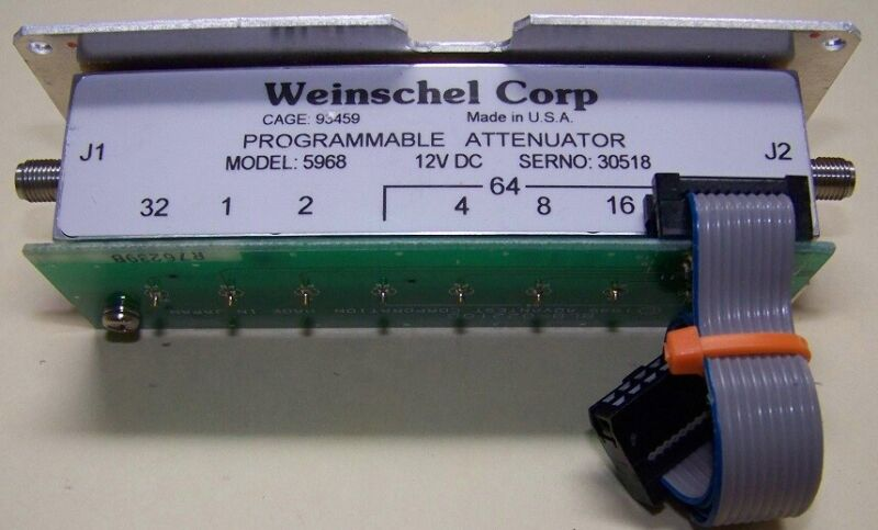 Weinschel 5968 Programmable Attenuator 0-127dB 3GHz 12V w/cable & connector !