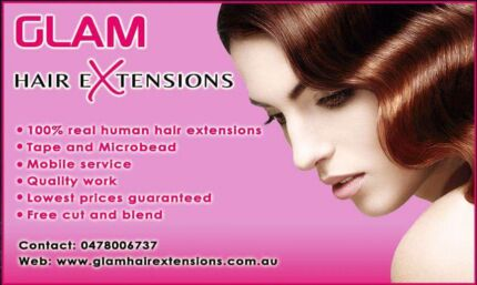 Mobile service microbead and tape hair extensions real human hair Sydney City Inner Sydney Preview