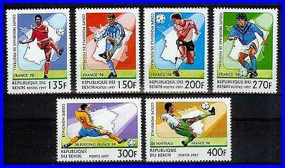 BENIN = 1998 WORLD FOOTBALL CUP / SOCCER SC#966-71 MNH SPORTS (3ALL)