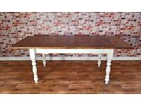 Rustic Finish Farmhouse Pine Dining Table / Extending Table - in Huge Range of Adaptable Sizes