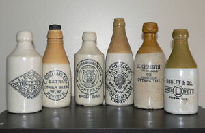 WANTED: Antique ginger beer stoneware & glass bottles