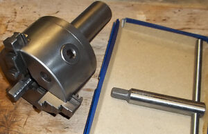 "4"" Three Jaw Chuck & Tapered Sleeve.Unused.K.O.Lee grinder"