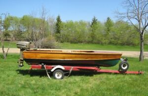 1937 - 13' Peterborough Cedar Strip Boat for Sale