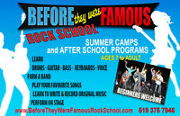 Famous Rock School  July and August Summer Camps  Owen Sound