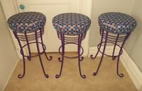 Fun Bar Stools-Set of 3 for $60