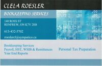 CLELA ROESLER BOOKKEEPING SERVICE