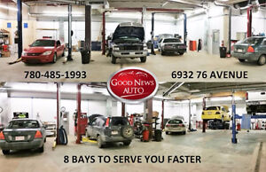 HONEST MECHANIC SHOP / GOOD NEWS AUTO REPAIR SHOP EDMONTON