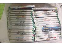 Wii games, wii board and nunchucks