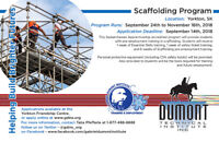 Scaffolding Program in *Yorkton, SK*
