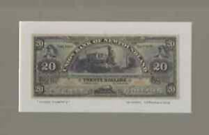1889 Historic Reproduction of Union Bank of Newfoundland $20.00