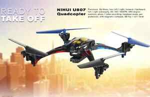 Brand New Quadcopter Drone, Nihui U807 HD Camera Ready to Fly