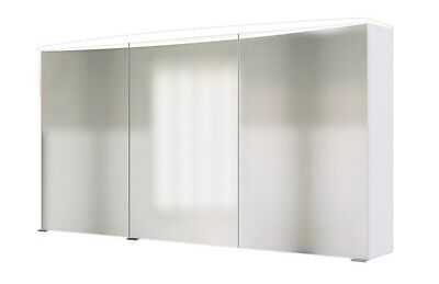 Lackiert Breite Schrank (3D Spiegelschrank Florida in weiß 120 cm breit mit LED Lichtband)