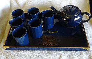 gold embossed tea set