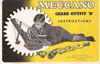Antique Meccano Toys  Instruction book