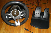 Hip Street Playstation 3 USB Steering Wheel with Pedals PS3 V5
